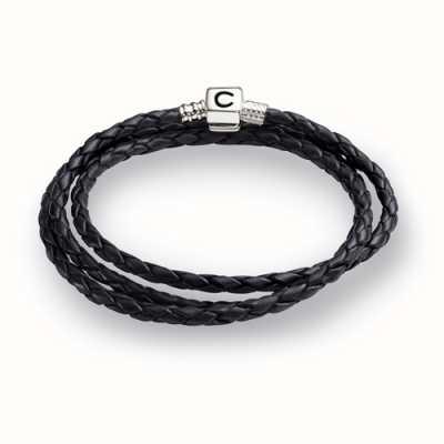 Chamilia ébène tressé bracelet en cuir d'enveloppe (56,4 cm/22.2 in) 1 1212-0004