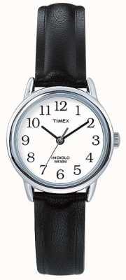 Timex Bracelet en cuir noir d'origine Easy Reader T20441