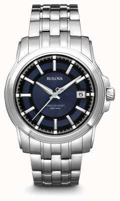 Bulova Montre de précision bleu argentée pour homme 96B159