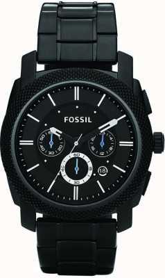 Fossil Mens noir chronographe bracelet FS4552