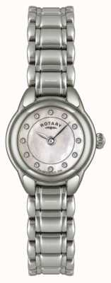 Rotary Womens pierre, montre en acier inoxydable LB02601/07
