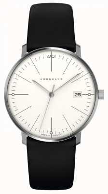 Junghans Max Bill femmes | bracelet en cuir noir | 047/4251.00