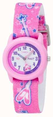 Montre enfant Timex bracelet chaussons roses T7B151