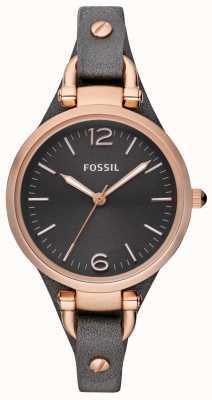 Fossil Montre analogique bracelet en cuir dames ES3077