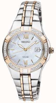 Seiko Montre habillée femme solaire | bracelet en acier inoxydable | SUT068P9