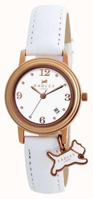 Radley Bracelet darlington en cuir blanc pour femme avec cadran blanc RY2006