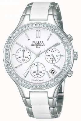 Montre dame Pulsar, céramique blanche/acier inox PT3305X1