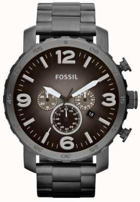 Fossil Chronomètre en acier inoxydable fumé pour homme JR1437