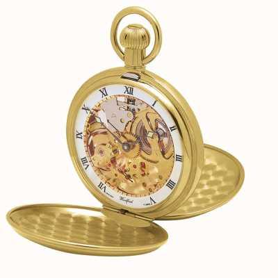 Woodford | squelette de chasseur | double couvercle | plaque d'or | montre de poche | 1014