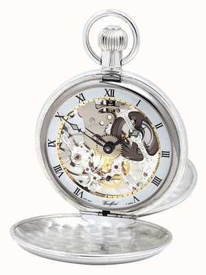 Woodford Pockwatch argenté à double couvercle avec chaîne Albert 1066