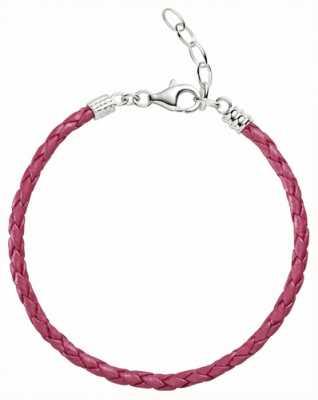 Chamilia Une taille rose métallique bracelet en cuir tressé 1030-0112