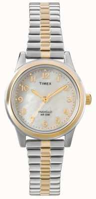 Timex Montre à épaulettes à deux tons T2M828
