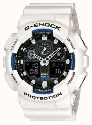 Casio Mens g choc blanc montre de résine GA-100B-7AER