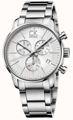 Calvin Klein ville Hommes chronographe en acier inoxydable K2G27146