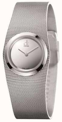 Calvin Klein Impulsif, acier inoxydable, cadran argent montre de dames K3T23128