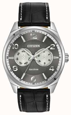Citizen Mens en acier inoxydable cadran gris montre AO9020-17H