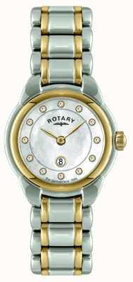 Rotary Mesdames deux tons montre bracelet LB02602/41L