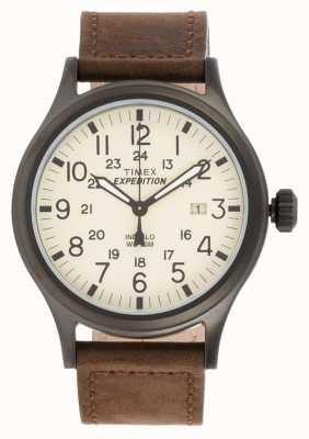Timex Mens expédition montre brun scout T49963