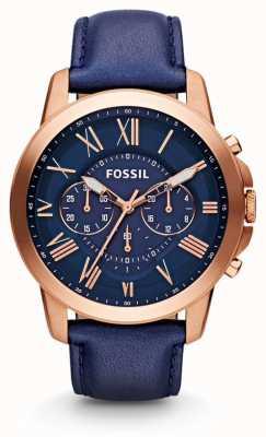 Fossil Mens accordent montre chronographe de la marine FS4835