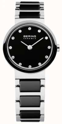 Bering Temps dames en céramique noir et d'argent 10725-742
