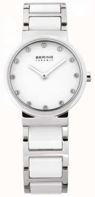 Bering Mesdames blanc quartz de montres en céramique analogique 10729-754