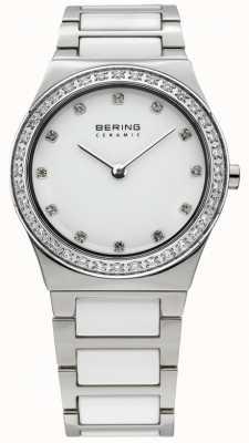 Bering Mesdames blanc quartz de montres en céramique analogique 32430-754