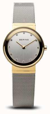 Bering Time ladies mesh classique doré et argenté 10122-001