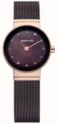Bering Temps dames brune montre de maille classique 10122-265