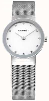 Bering Temps dames argent de montres de maille 10126-000