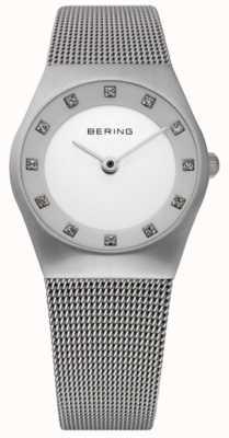 Bering Montre minimaliste dames | bracelet en maille d'acier inoxydable | 11927-000