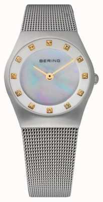 Bering Cadran en nacre pour femme | bracelet en acier inoxydable | 11927-004