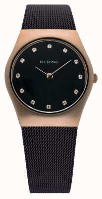 Bering Temps dames milanaises brun montre de maille 11927-262