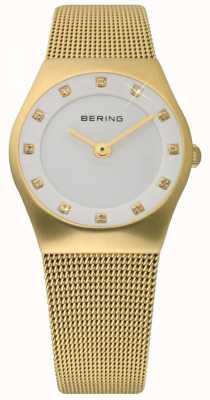 Bering Temps dames de montres de maille d'or 11927-334