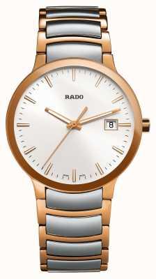 Rado | centrix | acier inoxydable deux tons | cadran argenté R30554103