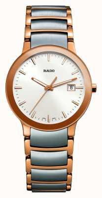 Rado | centrix | acier inoxydable deux tons | cadran argenté | R30555103