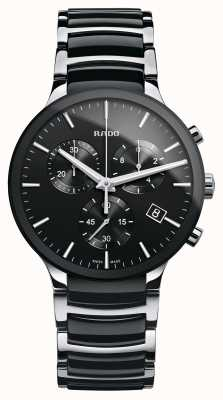 Rado | chronographe centrix | céramique high-tech | cadran noir R30130152