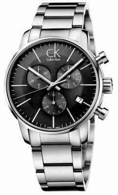 Calvin Klein Montre à quartz gris en acier inoxydable pour hommes K2G27143