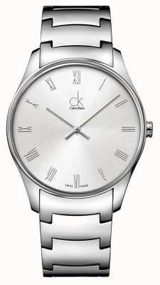 Calvin Klein Mens classique montre en argent K4D2114Z