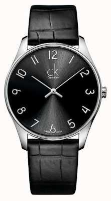 Calvin Klein mens en cuir Montre classique K4D211CX