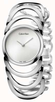 Calvin Klein Mesdames montre le corps d'argent K4G23126