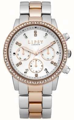 Lipsy Dames blanches et deux tons montre bracelet LP161
