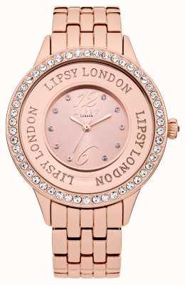 Lipsy Montre bracelet en cuir rose avec bracelet rose LP140