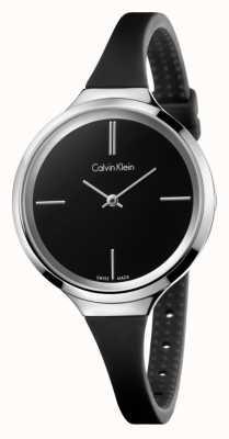 Calvin Klein Mesdames animé bracelet en silicone noir K4U231B1