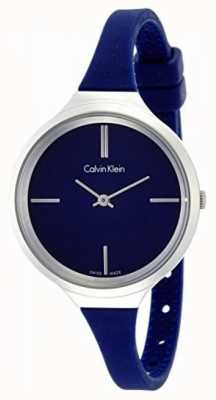 Calvin Klein Mesdames animé bracelet en silicone bleu K4U231VN