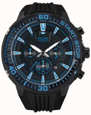 Pulsar Gents x noir de chronographe et bleu PT3507X1