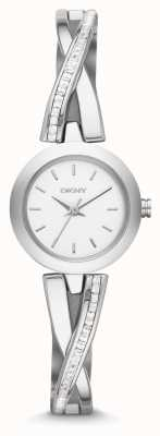 DKNY Mesdames CrossWalk argent montre de jeu de la pierre NY2173