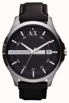 Armani Exchange Date de la montre bracelet en cuir pour homme AX2101