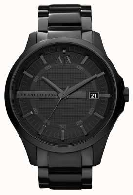 Armani Exchange Mens plaqué smart pvd noir en acier inoxydable AX2104