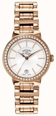 Rotary Mesdames les originales, plaqué or, ensemble de cristal montre LB90085/02L