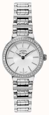 Rotary Mesdames les Originales, acier inoxydable, ensemble de cristal, montre LB90081/02